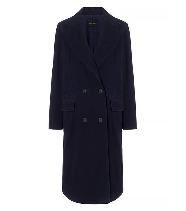 Rachel Comey Navy Cotton Twill Freight Coat