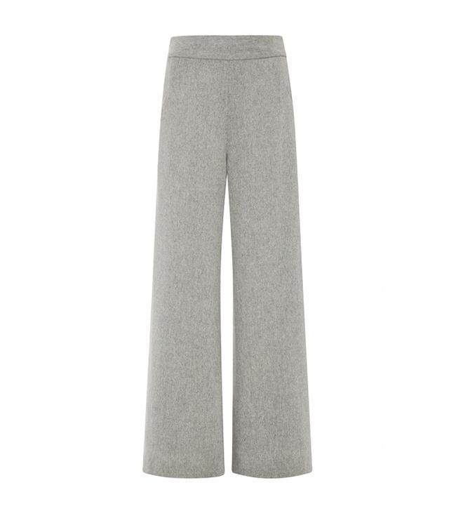 Sally LaPointe Lightweight Wool Wide Leg Trouser