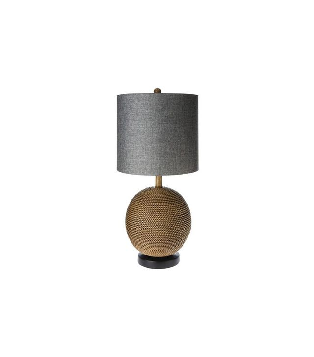 Mudhut Rope Textured Sphere Table Lamp