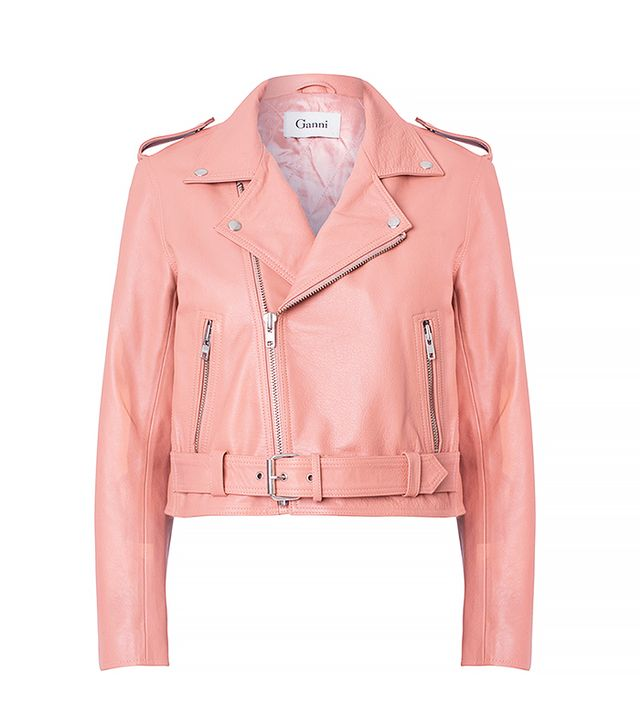 Ganni Biker Jacket in Rose Dawn