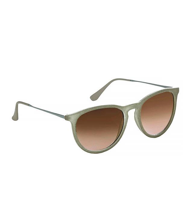 Topshop Round Velvet Sunglasses