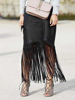 How to Dress Down Your Amazing Fringe Skirt