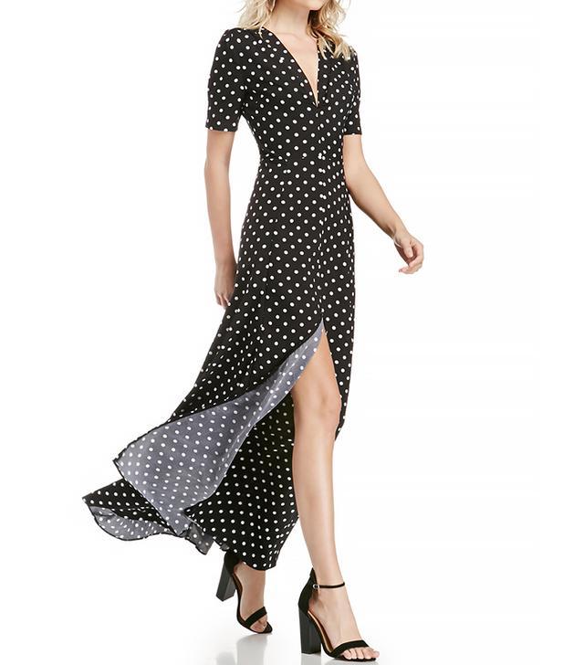 DAILYLOOK Sultry Polka Dot Maxi Dress
