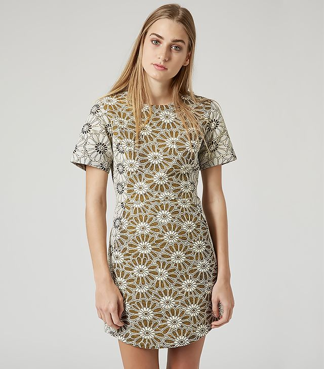 Topshop Daisy Jacquard Shift Dress