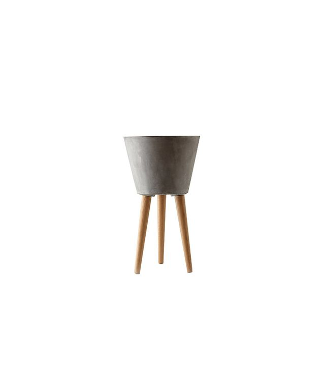 Terrain Tapered Wooden Leg Pot