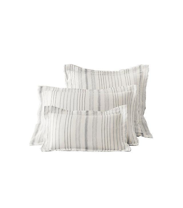 Restoration Hardware Italian Jacquard Stripe Linen Sham