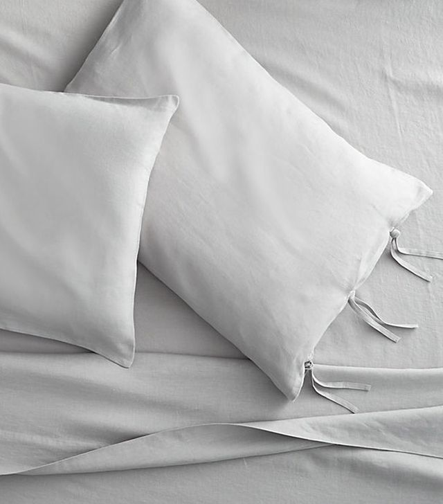 CB2 French-Belgian Linen Shale Sheet Sets