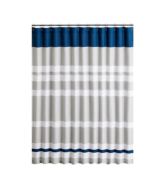 CB2 Lively Blue Shower Curtain