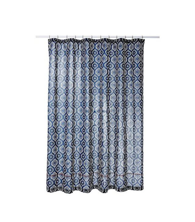 One Kings Lane Indigo Medallion Shower Curtain