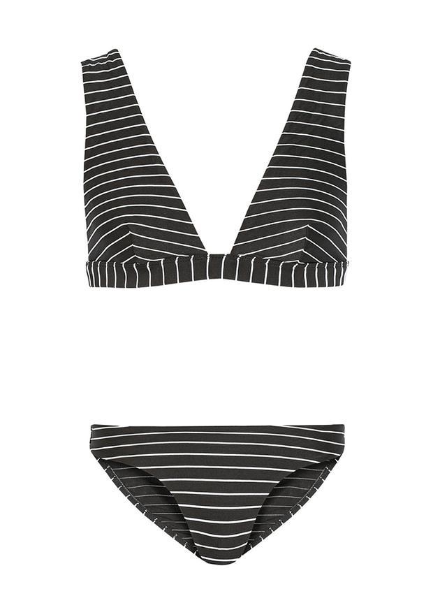 Zimmermann Trinity Wide Plunge Striped Bikini