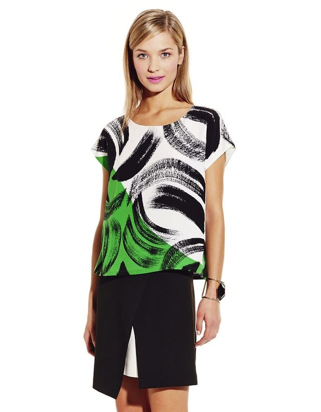 Vince Camuto Artful Strokes Blouse