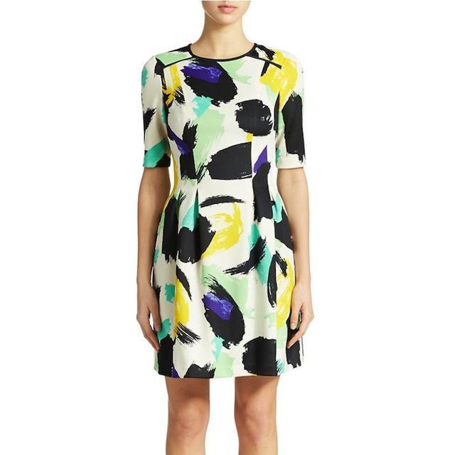 Vince Camuto Paint-Print Dress
