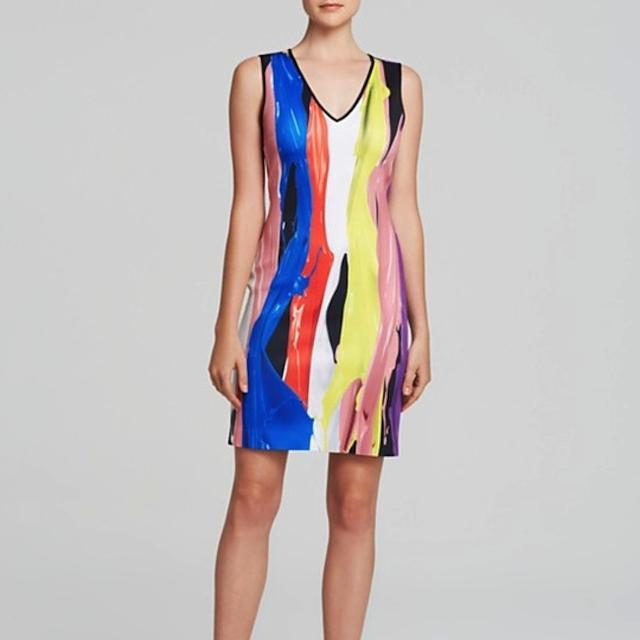 Clover Canyon Paint Print Neoprene Dress