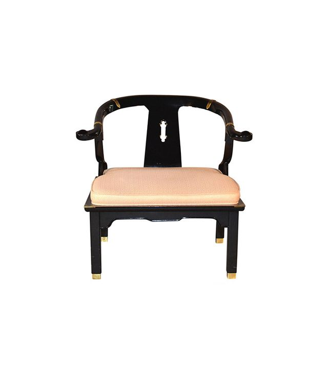 1stdibs James Mont Black Lacquer lounge chair