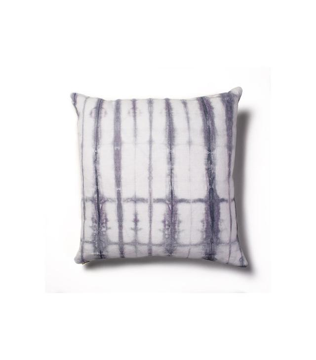 Rebecca Atwood Grey-Lilac Shibori Pillow