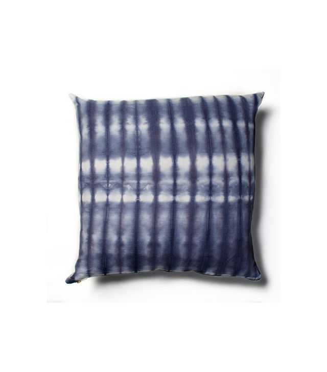 Rebecca Atwood Navy Striped Shibori Pillow