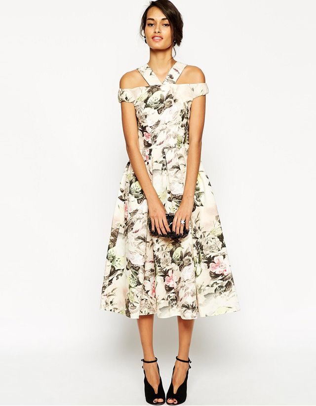 ASOS Tapestry Rose Multi Strap Debutante Dress