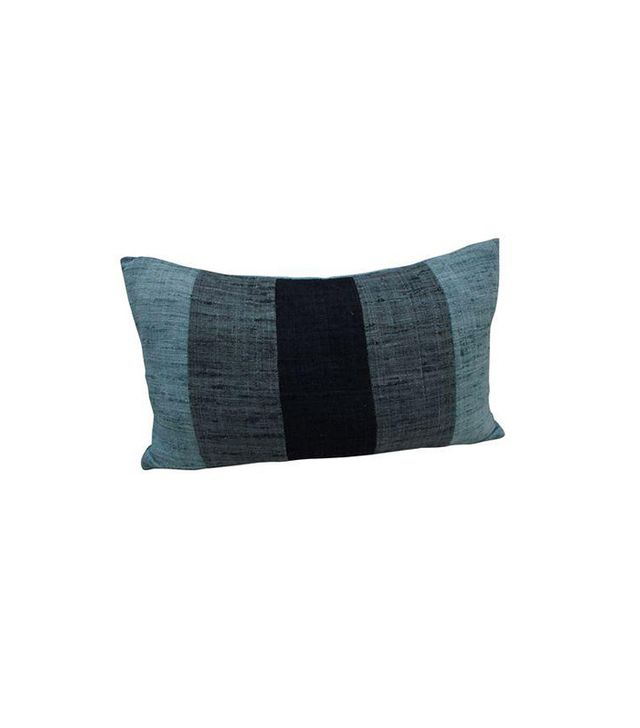 Chairish Blue Striped Throw Pillow