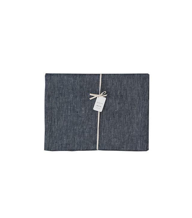 Fog Linen Works Denim Linen Tablecloth