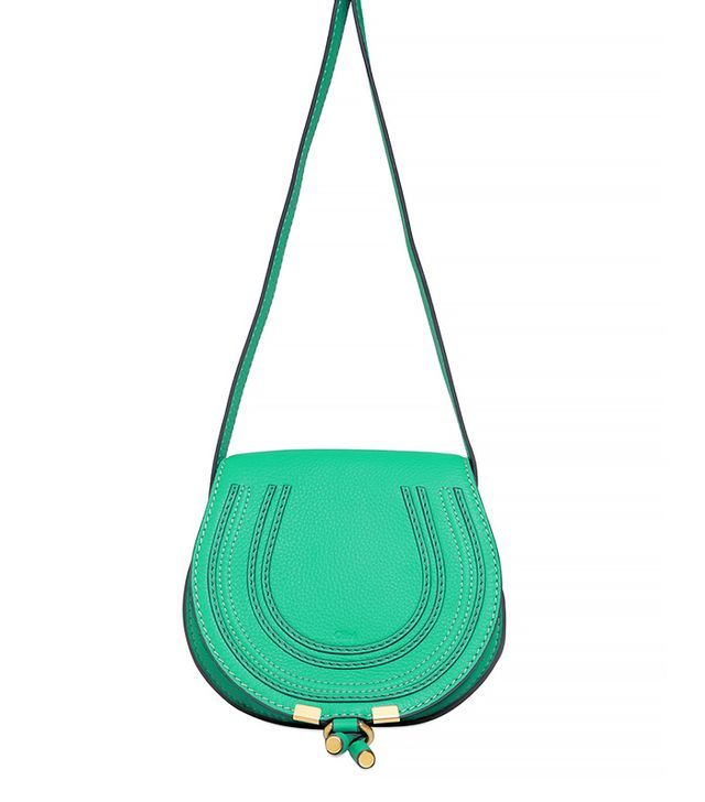 Chloé Small Marcie Leather Crossbody Bag in Jade Green