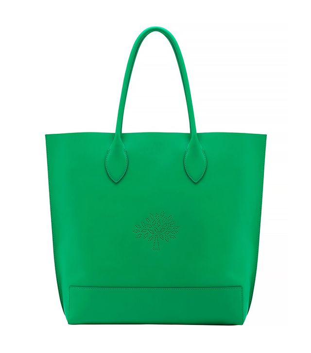 Mulberry Blossom Leather Nappa Tote Bag