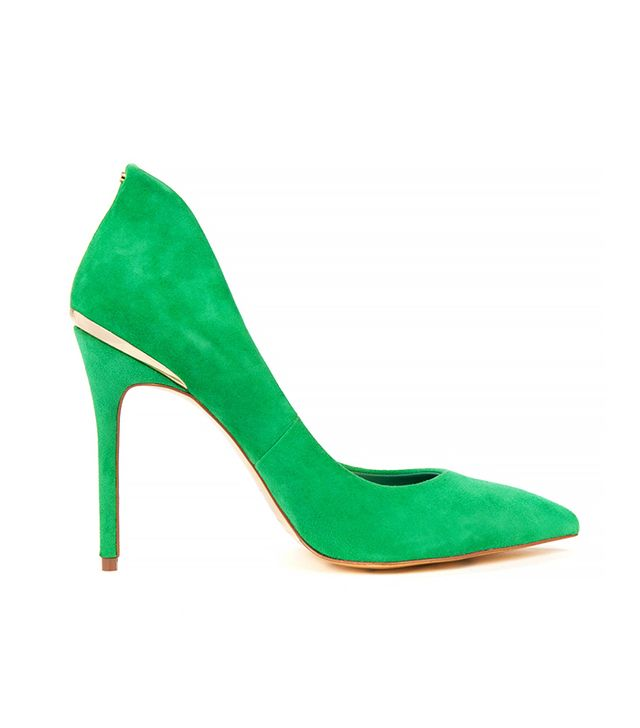 Ted Baker High Back Court Shoes in Dark Green