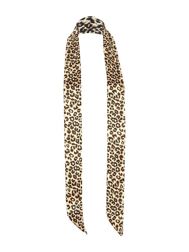 River Island Leopard Skinny Scarf