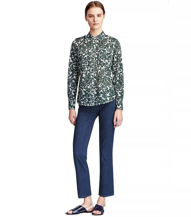 Tory Burch Ana Cropped Flare Jeans