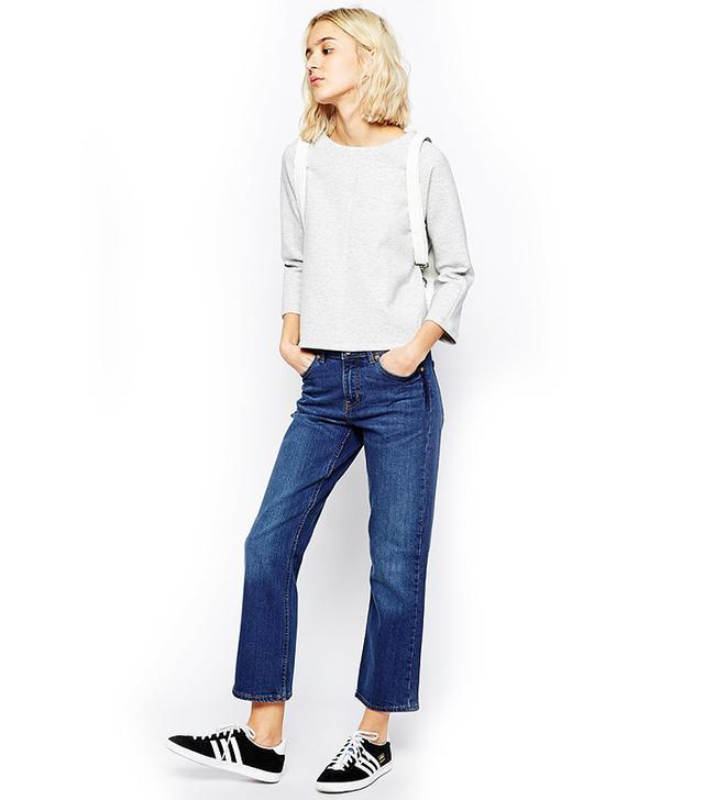 Weekday Cut High Waist Slightly Bootcut Jeans