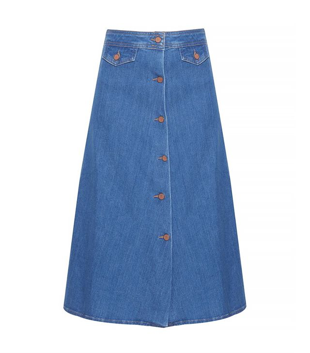 MiH Jeans The 70s A-Line Denim Skirt