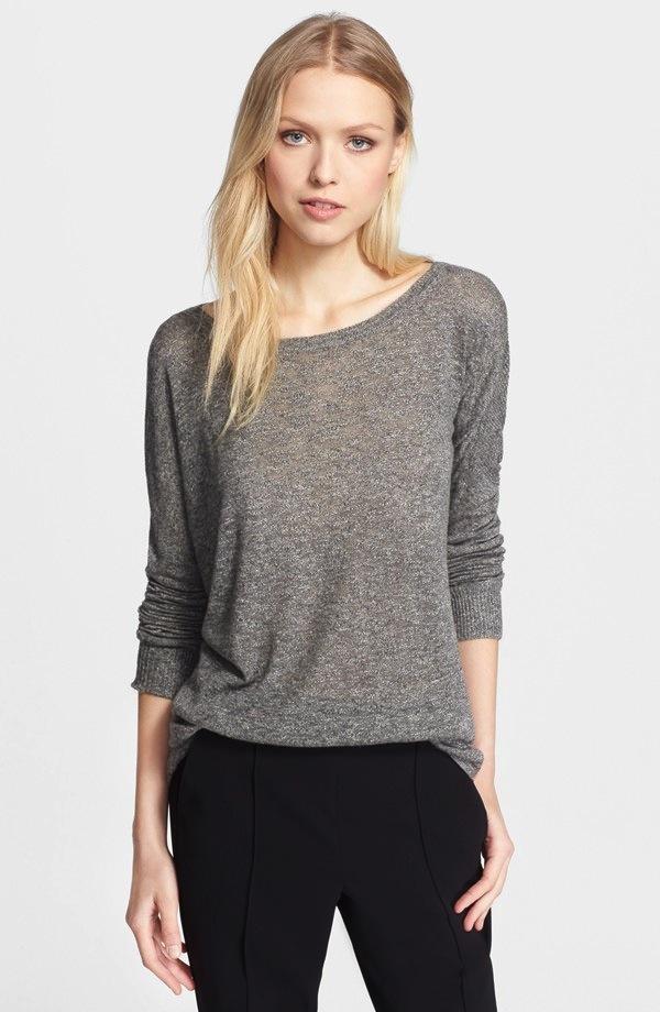 Vince Superfine Lyon Knit Crewneck Sweater