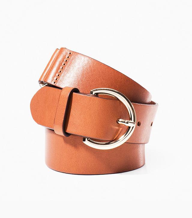 Massimo Dutti Buckled Braided Belt