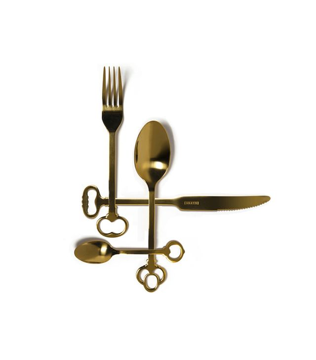 Seletti Gold Keytlery Set