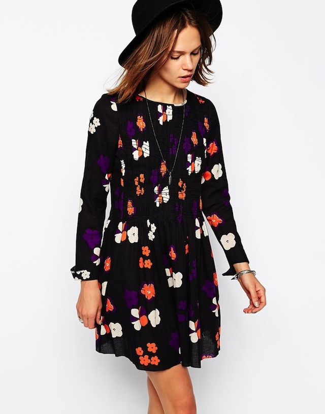 Zadig and Voltaire Smock Dress in Bright Floral Print