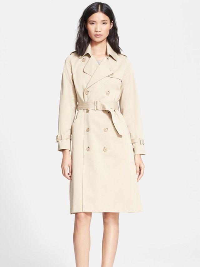 A.P.C. Double Breasted Gabardine Trench Coat