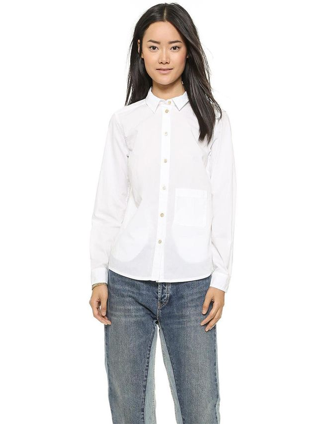 Marc by Marc Jacobs Lyra Washed Poplin Button Down
