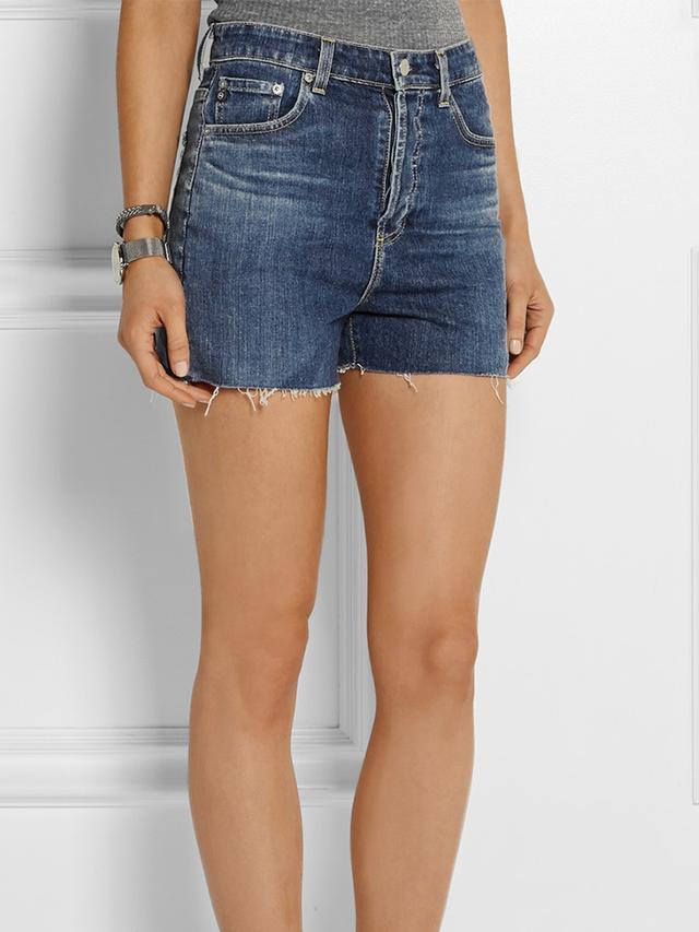 Alexa Chung for AG Jeans The Fifi High-Rise Stretch-Denim Shorts