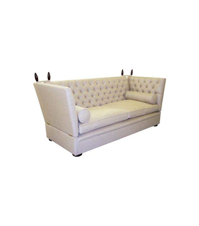 George Smith Tufted Tiplady Knole Sofa in Flax Linen