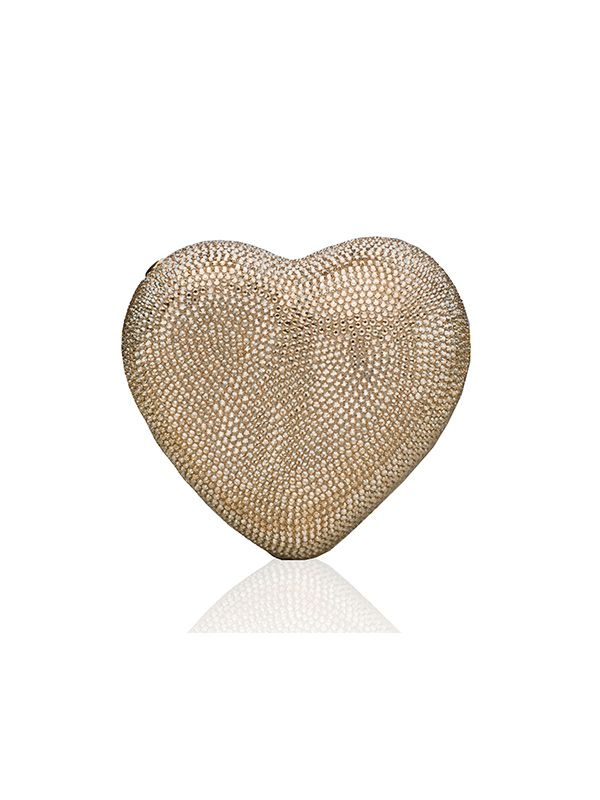 Judith Leiber Crystal Heart Clutch