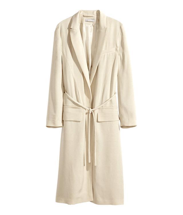 H&M Textured-Weave Coat