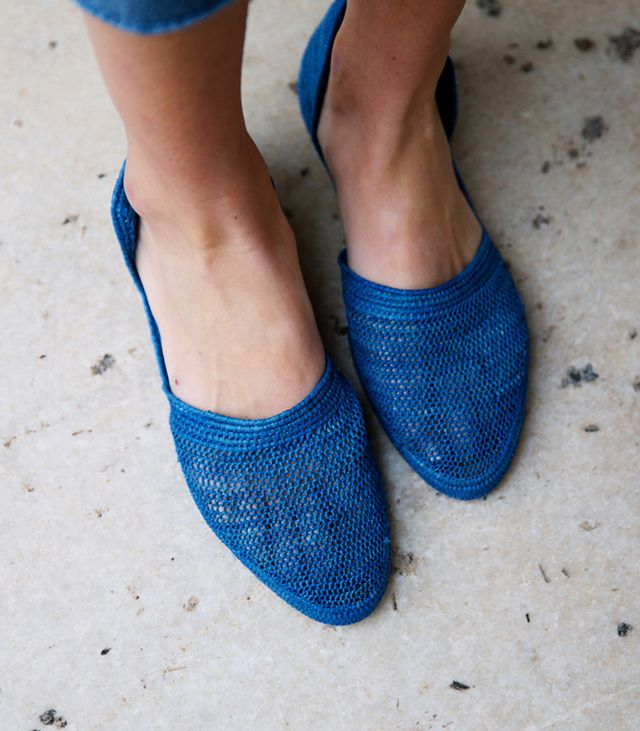 Proud Mary Cobalt Crochet D'Orsay