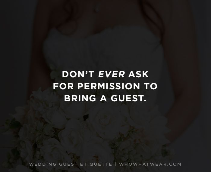 bringing guests to a wedding etiquette