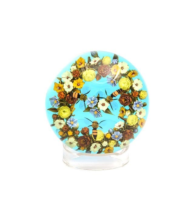 David Graeber Wreath Boquet With Honeybees Paperweight
