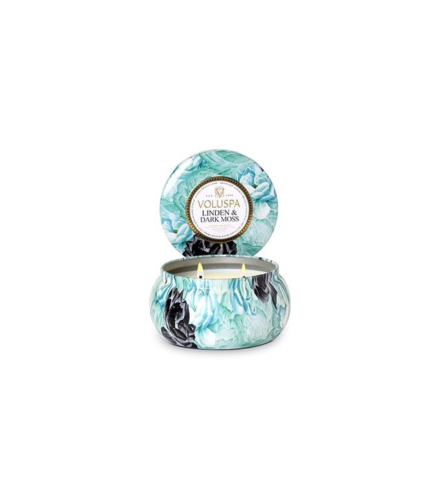 Valuspa Maison Jardin 2 Wick Candle in Tin - Linden & Dark Moss