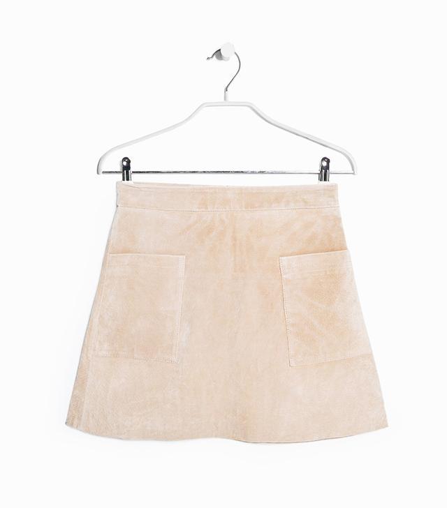 Mango Suede Skirt