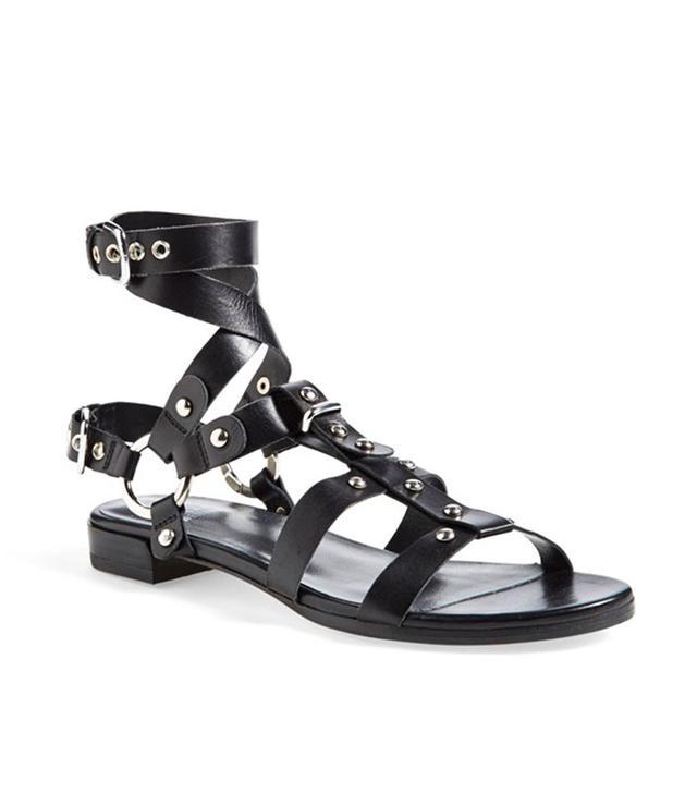 Stuart Weitzman 'On the Run' Leather Sandal