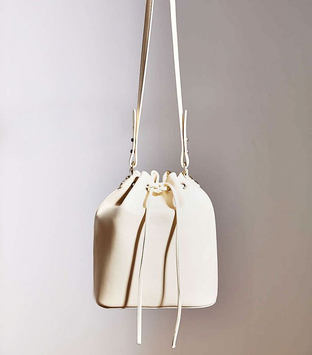 Cooperative Structured Bucket Bag in Ivory