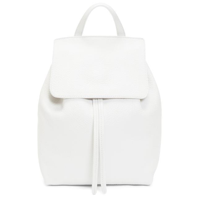 Mansur Gavriel Tumble Mini Backpack in White