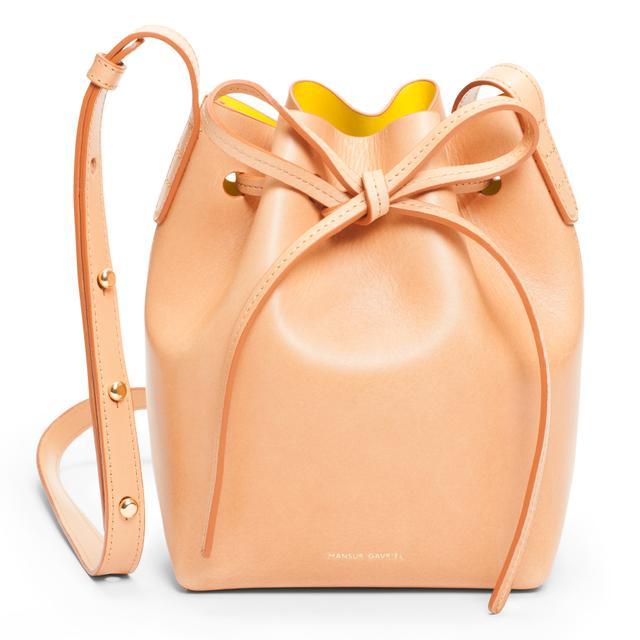 Mansur Gavriel Mini Leather Bag in Camello Sun