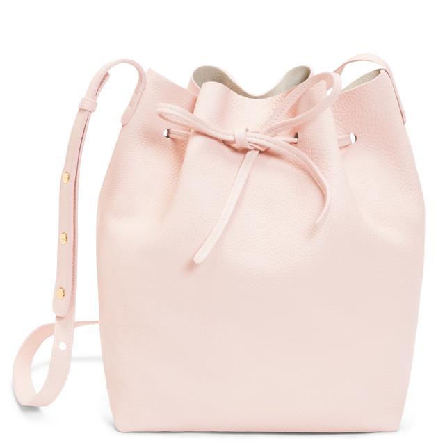 Mansur Gavriel Tumble Bucket Bag in Rosa